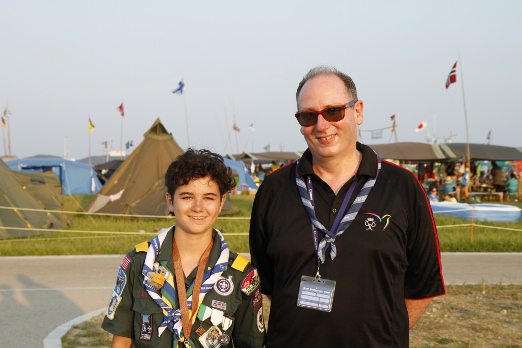 Katy (a USA Venturer) and me at the World Scout Jamboree in Japan.